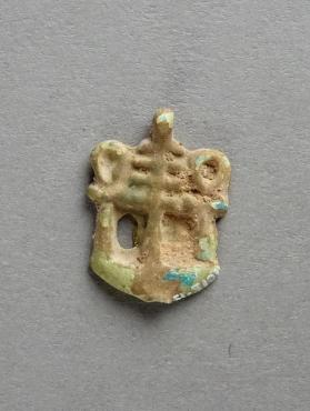Amulet, ankh, was and djed on neb sign.