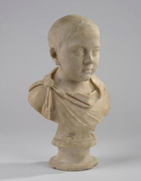 Portrait bust of a boy