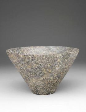 Conical stone bowl