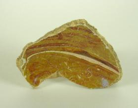 Lustre-ware bowl fragment (base sherd)