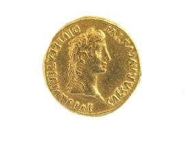Aureus with laureate head of Augustus