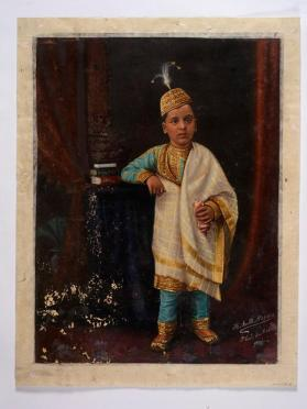 Portrait of a Jaisinghrao? (1888-1923), second eldest son of Sayajirao Gaekwad III, Maharaja of Baroda