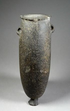Footed beaker with lug handles
