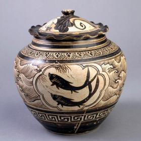 Jizhou ware jar and cover