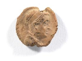 Seal impression of male bust wearing diadem