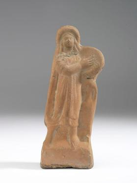 Figure of woman with tambourine