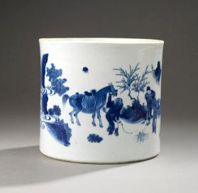 Jingdezhen ware brush pot