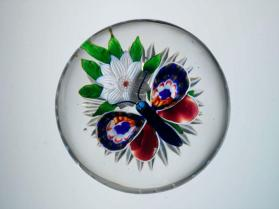 Paperweight, Butterfly over Flower
