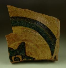 """Stars and Stripes"" ware bowl fragment (base sherd)"