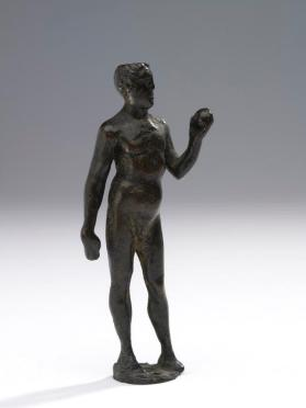 Figure of a male athlete, or possibly Hercules, holding an apple