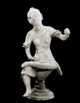 Burial figure of a seated warrior