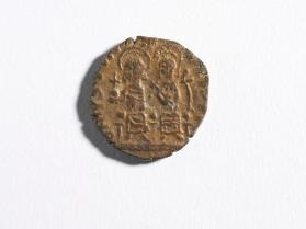 Half-follis of Justin II and Sophia