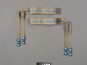 One of a pair of man's garters