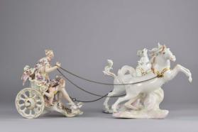 Venus and Cupid in her Chariot figurine