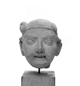 Figural head of a man