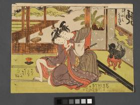 Samurai wakashu with woman