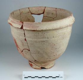 Deep bowl with modelled rim