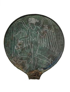 Mirror depicting Lasa holding an alabastron