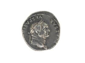 Denarius with laureate head of Vespasian