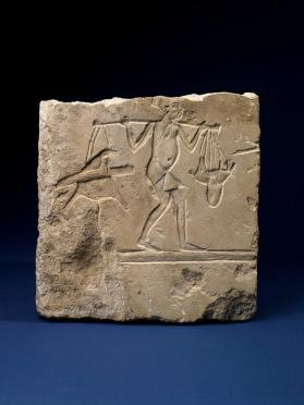 Relief depicting man with carrying pole