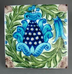 "Pictorial tile, ""Pineapple"" design"