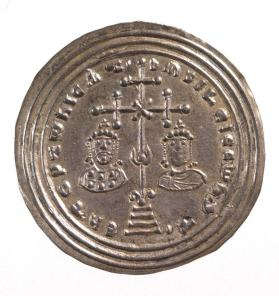 Miliaresion coin of Basil II and Constantine VIII