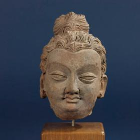 Figural head of the Buddha