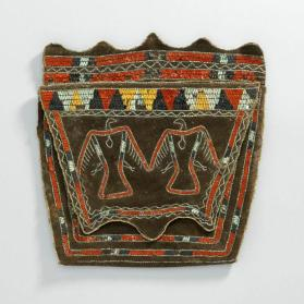 Quillwork pouch with thunderbird motif