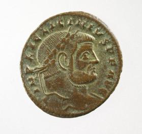 Follis with laureate bust of Licinius I