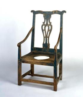 Commode chair in Chippendale style