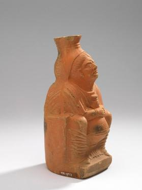 Jug modelled in the form of a woman holding a lagoena (wine-jug)
