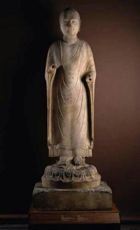 Marble figure of Amitabha, Lord of the Western Paradise