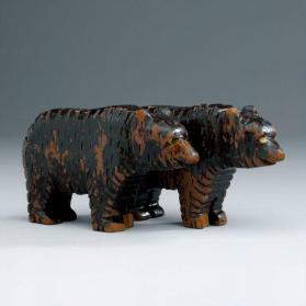 Noah's ark figures: pair of brown bears