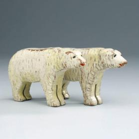 Noah's ark figure: pair of polar bears