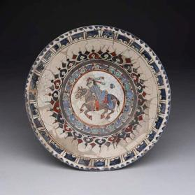 """Minai"" ware bowl with horse and rider"