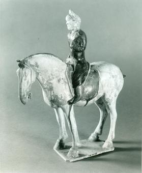 Burial figure of a mounted foreigner