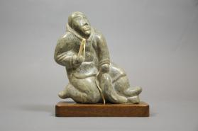 Sculpture, Man with fish