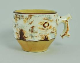 "Cup, Birch Bark ""Bar.B.Q"" pattern"