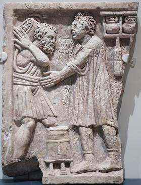 Tomb relief showing shop activity