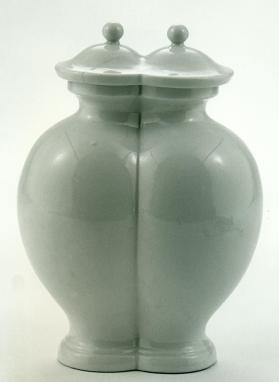 Jingdezhen ware double jar and cover