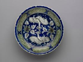 Dish inscribed with poem by Omar Khayyam