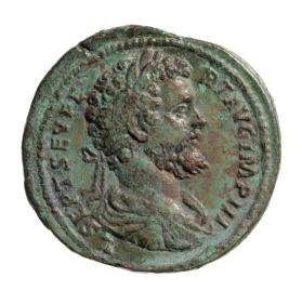 Sestertius with bust of Septimius Severus