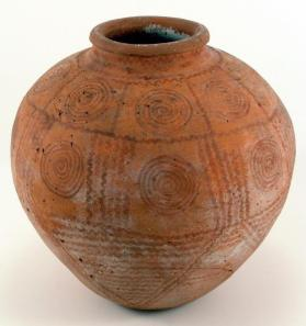 Globular jar (decorated ware)