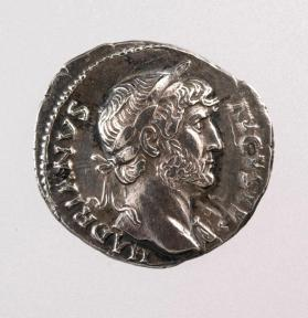 Denarius with laureate bust of Hadrain