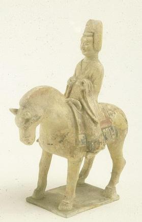 Burial figure of a mounted male musician