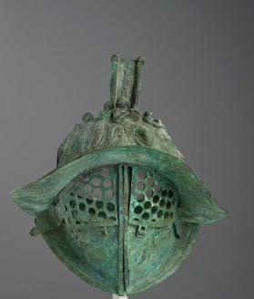Modern reproduction of a Roman gladiatorial parade helmet