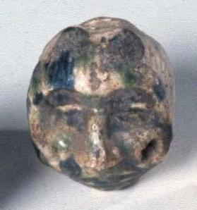 Ocherina in form of a human head