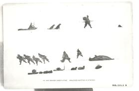 Book plate, Ivik Keinek Okeeyuitme (Walrus Hunting in Winter)