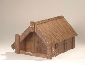 Model of ceremonial meeting house