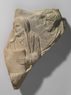 Sarcophagus relief fragment depicting a Funeral Procession